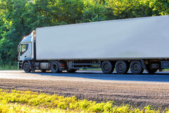 Truck goes on the highway Stock Photography