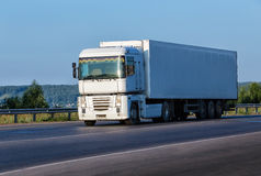 Truck goes on highway Stock Photography