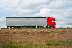 Truck goes on the way Stock Photography