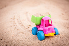 Truck going forward in the sands Stock Photos
