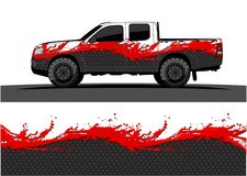 Truck graphics. Vehicles racing stripes background. Vehicle and truck graphic vector. racing background for vinyl wrap and decal vector vector illustration
