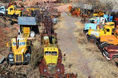 Truck Graveyard Royalty Free Stock Images