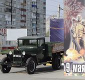 Truck during the great Patriotic war - ` lorry` royalty free stock photo