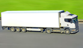Truck on green Royalty Free Stock Images