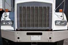 Truck Grill. The front grill of a big rig truck Royalty Free Stock Image