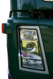 Truck headlight. Green truck headlight Royalty Free Stock Photography