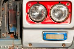 Truck headlights Royalty Free Stock Image