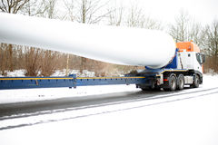 Truck Heavy Transport Windenergy Royalty Free Stock Photos