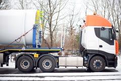Truck Heavy Transport Windenergy Royalty Free Stock Photos