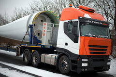 Truck Heavy Transport Windenergy Stock Image