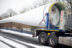 Truck Heavy Transport Windenergy Royalty Free Stock Image