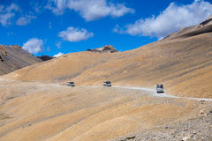Truck on the high altitude Manali - Leh road , India Royalty Free Stock Image