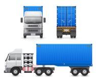 Trailer truck vector Stock Image