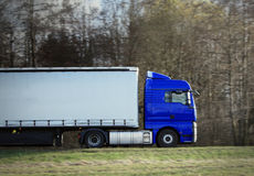 Truck on highway Stock Images