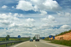 Truck on a highway Royalty Free Stock Photography