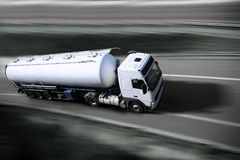 Truck on highway Royalty Free Stock Image