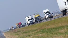 Truck highway stock video footage
