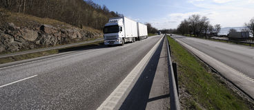 Truck and highway panoramic Stock Image