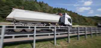 Truck on highway speed blur. A Truck on highway speed blur Stock Image