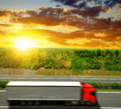 Truck on the highway Royalty Free Stock Photos