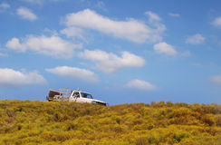 Truck on the hill Royalty Free Stock Photo