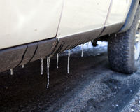 Truck Icicles Royalty Free Stock Photo