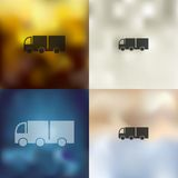 Truck icon on blurred background Royalty Free Stock Photography