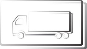 Truck icon in frame Royalty Free Stock Images