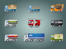 Truck icon set Stock Photos