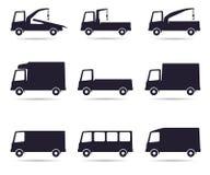 Truck icon set Stock Photo