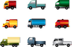 Truck icon set on white Royalty Free Stock Image