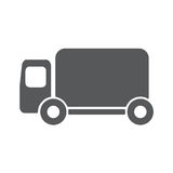 Truck icon vector. EPS10. Truck icon vector. Delivery van, service concept, Minimalistic sign isolated on white background. Trendy Flat style for graphic design Royalty Free Stock Photos