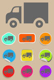 Truck Icon - Vector. A sign Truck Icon Vector - illustration symbol Royalty Free Stock Image