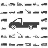 Truck icon on white. Truck icon. Transport icons universal set for web and mobile vector illustration