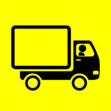 Truck icon. On yellow background Royalty Free Stock Photos
