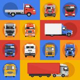 Truck Icons Flat Royalty Free Stock Image