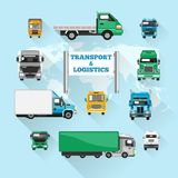 Truck Icons Flat Stock Images