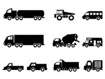 Truck icons set Royalty Free Stock Images