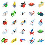 Truck icons set, isometric style. Truck icons set. Isometric set of 25 truck vector icons for web isolated on white background Stock Photography