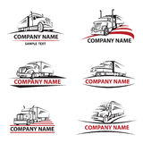 Truck icons set Royalty Free Stock Photo