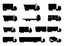 Truck Icons Set Stock Image