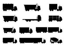 Truck Icons Set. Set of trucks , heavy vehicles icons set Stock Image