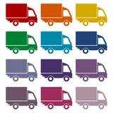 Truck icons set Royalty Free Stock Photos