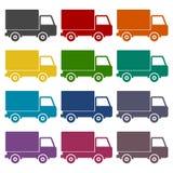 Truck icons set Royalty Free Stock Photo
