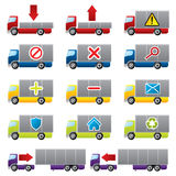 Truck icons for the web. Truck icons for your website Royalty Free Stock Photo