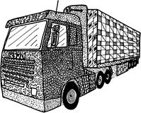 Truck  illustrated in zentangle Stock Photos