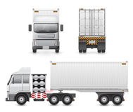Truck. Illustration of heavy truck and container isolated on white background Royalty Free Stock Photo