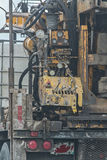 Truck. An industrial truck loaded with equipment Stock Photography