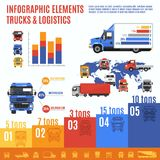 Truck Infographic Set Stock Images