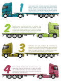 Truck infographics design with various choices Royalty Free Stock Photography
